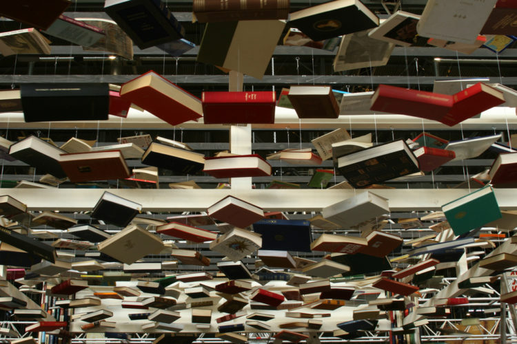 'Hanging books' - photograph by Thomas Gulgnard