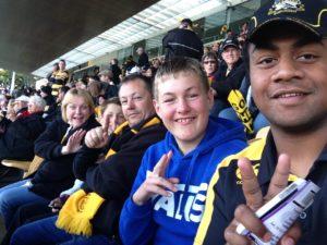Vince, The England Family @ Taranaki vs Tasman Rugby Finals 2014
